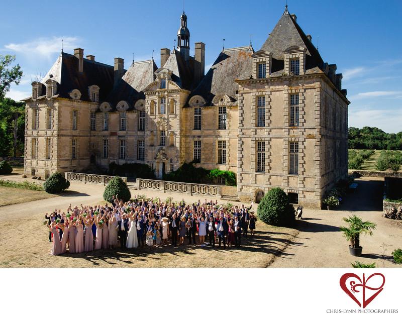 Chateau de Saint Loup Wedding Group Photos