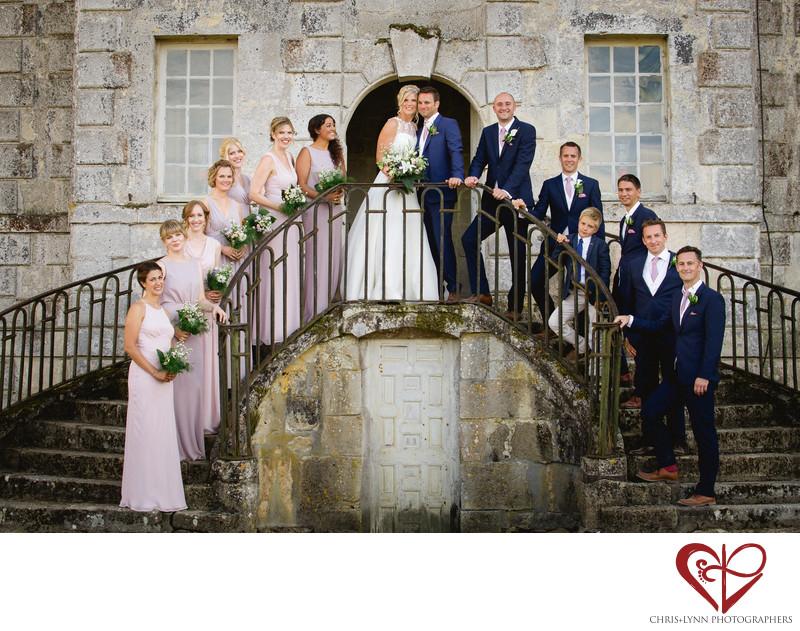 Chateau de Saint Loup Wedding Party Photos