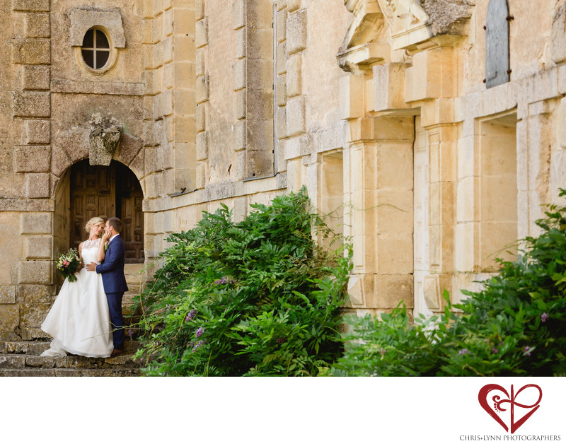 Chateau  Saint Loup Wedding Bride and Groom Pictures 6