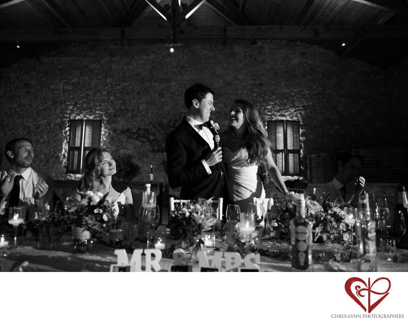 Chateau de Malliac Wedding Photos of Bride and Groom