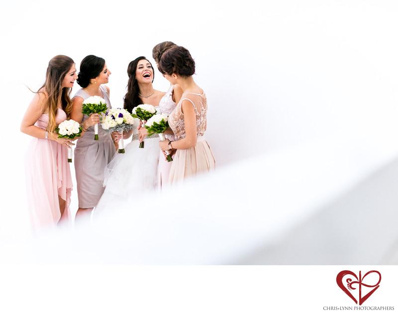 Persian bridemaids laughing at Le Blanc Spa Resort