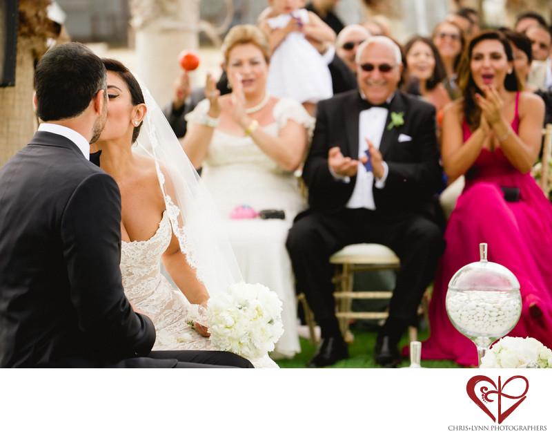 Wedding at Hotel El Ganzo, Persian Ceremony kiss