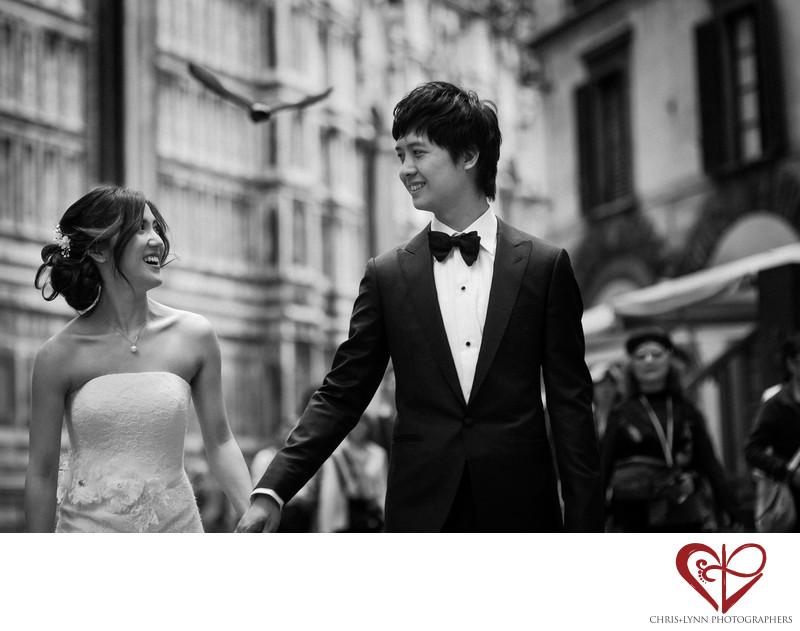 Florence Wedding Photos, Bride and Groom Portrait, 9