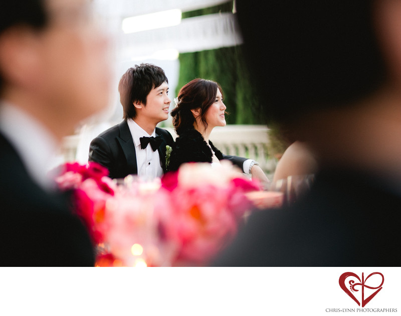 Villa La Vedetta Wedding reception, bride and groom
