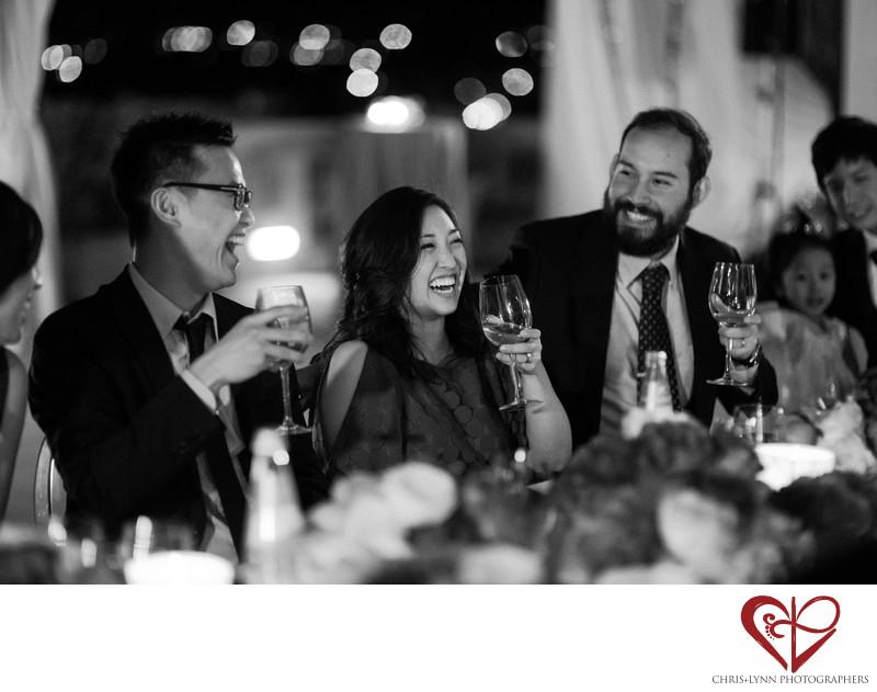 Villa La Vedetta Wedding reception, laughter