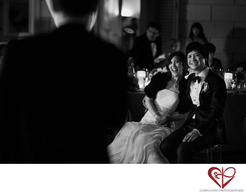 Villa La Vedetta Wedding reception, bride & groom photo