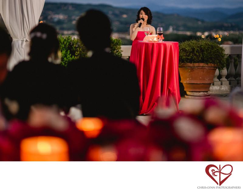 Italy Destination Wedding, Bridesmaid speech