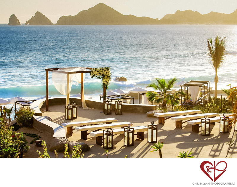 Wedding Ceremony Setup at The Cape Hotel, Los Cabos