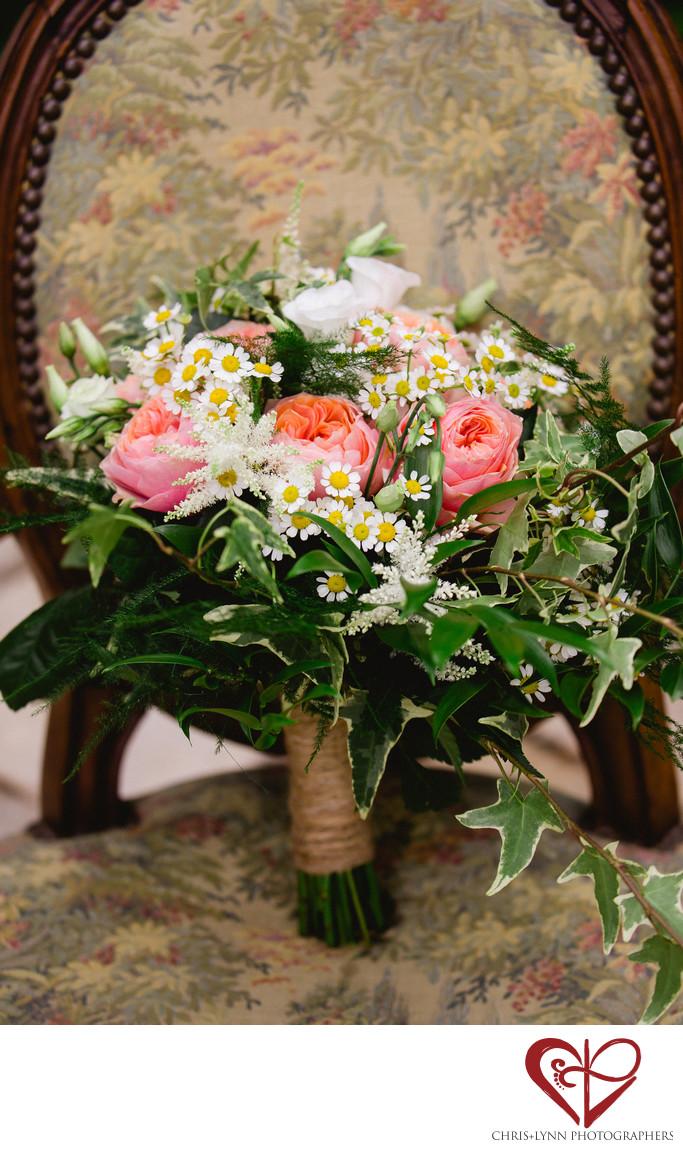 Bouquet Photo at Chateau Wedding, Chateau de Malliac