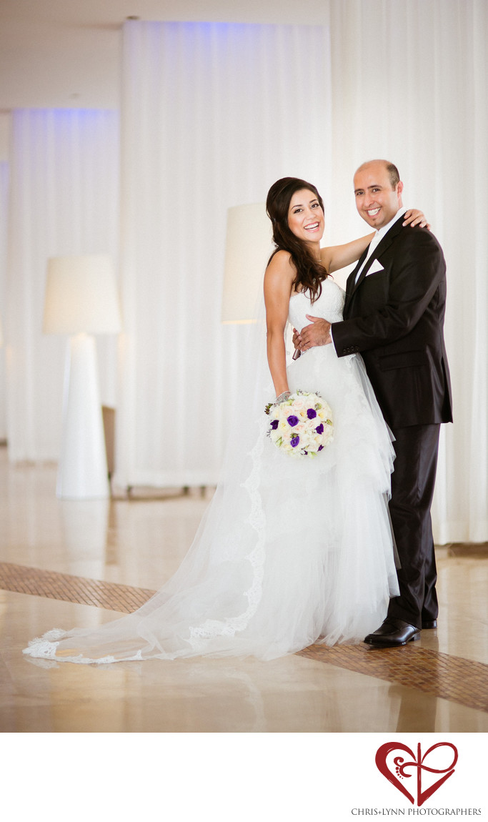 Bride and Groom at Le Blanc Resort Cancun
