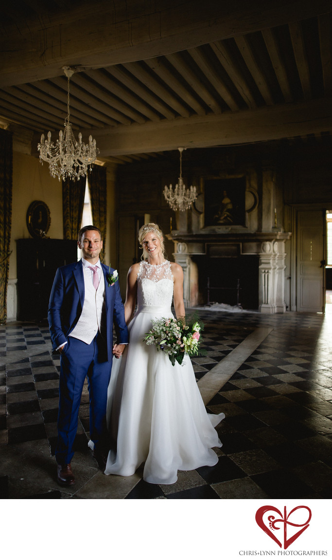 Chateau de Saint Loup Wedding Bride and Groom Portrait 3