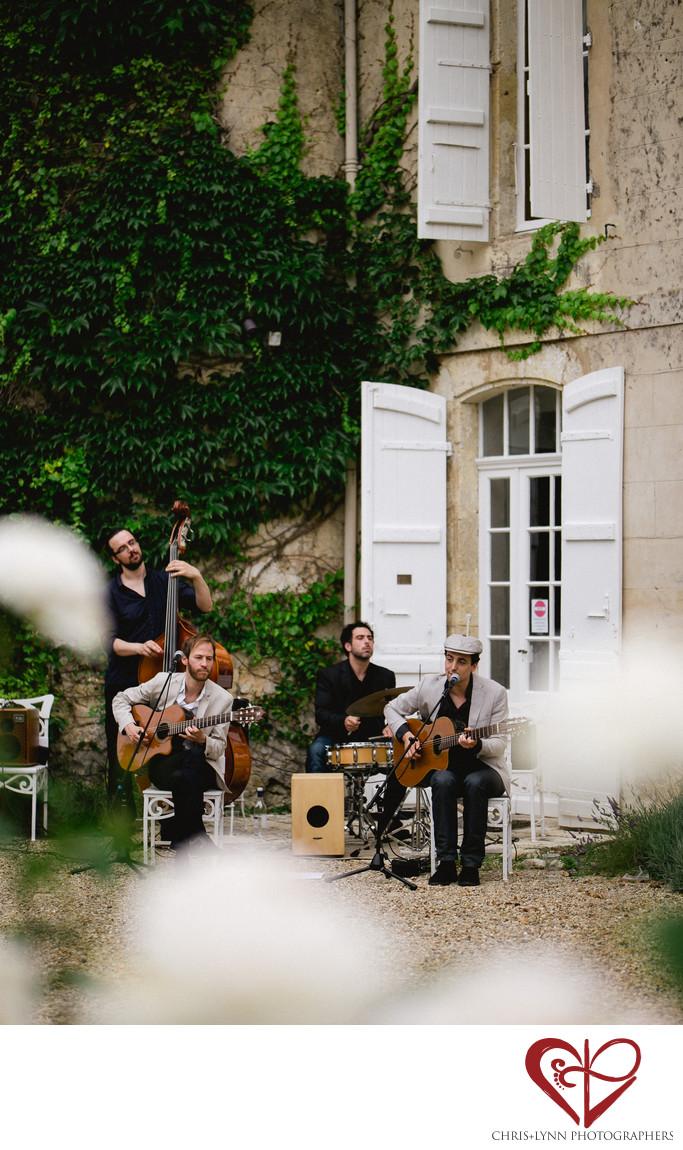Chateau de Malliac Wedding Photo of Cocktail Quartet