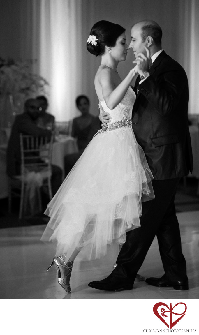 Bride and Groom Dance at Le Blanc Wedding Reception