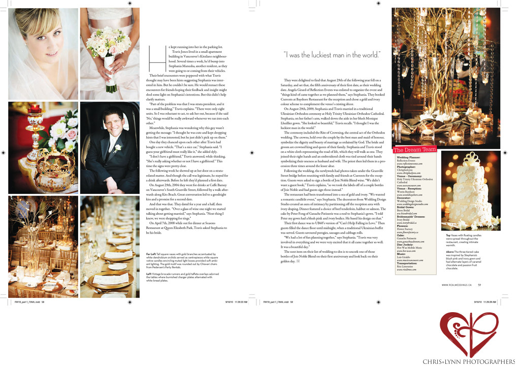 Real Weddings Vancouver Wedding Feature 1 Chris Lynn Photographers Published Wedding Work