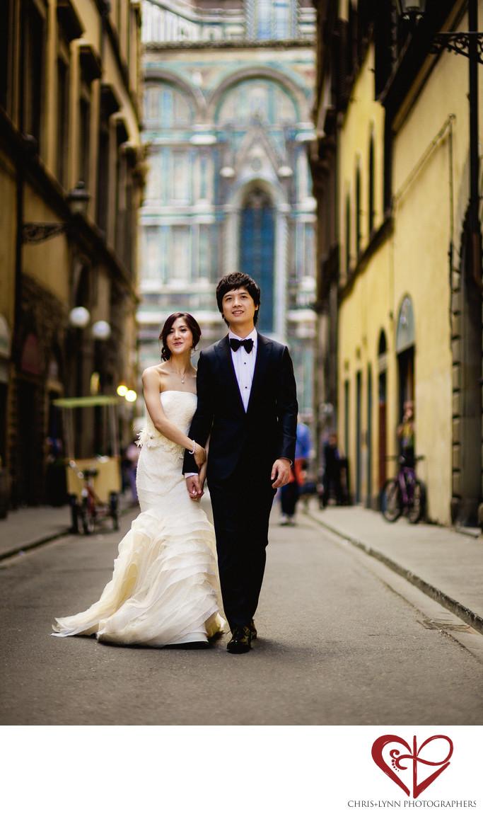 Florence Wedding Photos, Bride and Groom Portrait 12