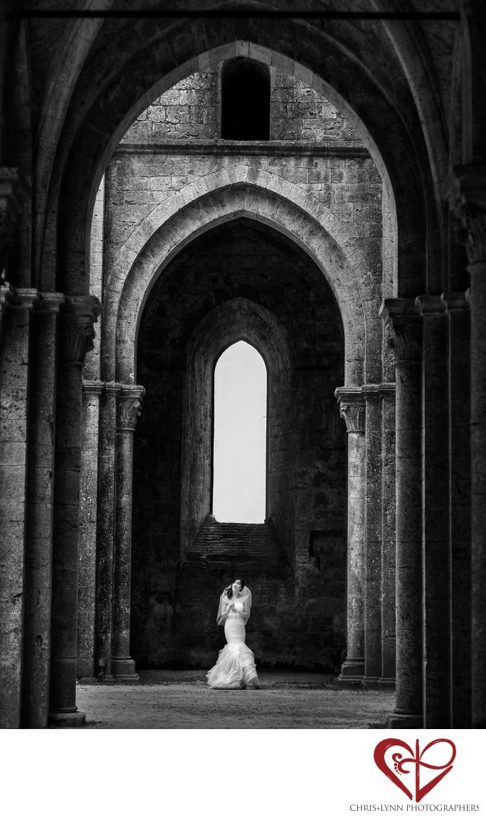 Tuscany Wedding Photography, bridal portrait