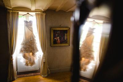 Wedding Gown, Chateau Malliac Destination Wedding