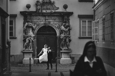 Bride & Groom portait session in Ljubljana, Slovenia