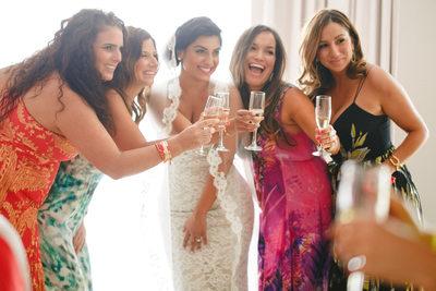 Persian Wedding at Hotel El Ganzo, Bridesmaids photo