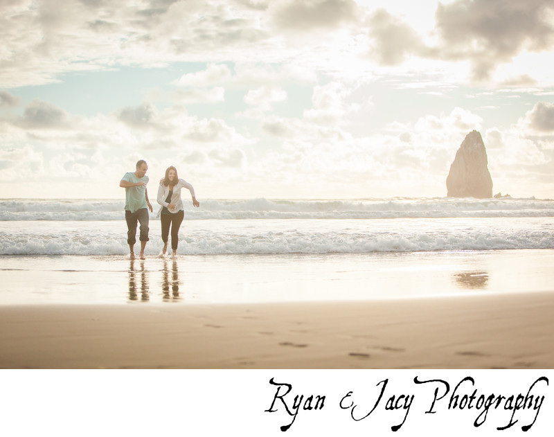 Engagement Photos Cannon Beach