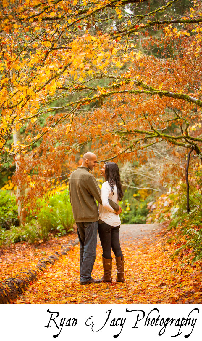 Engagement Photos at Seattle Arboretum