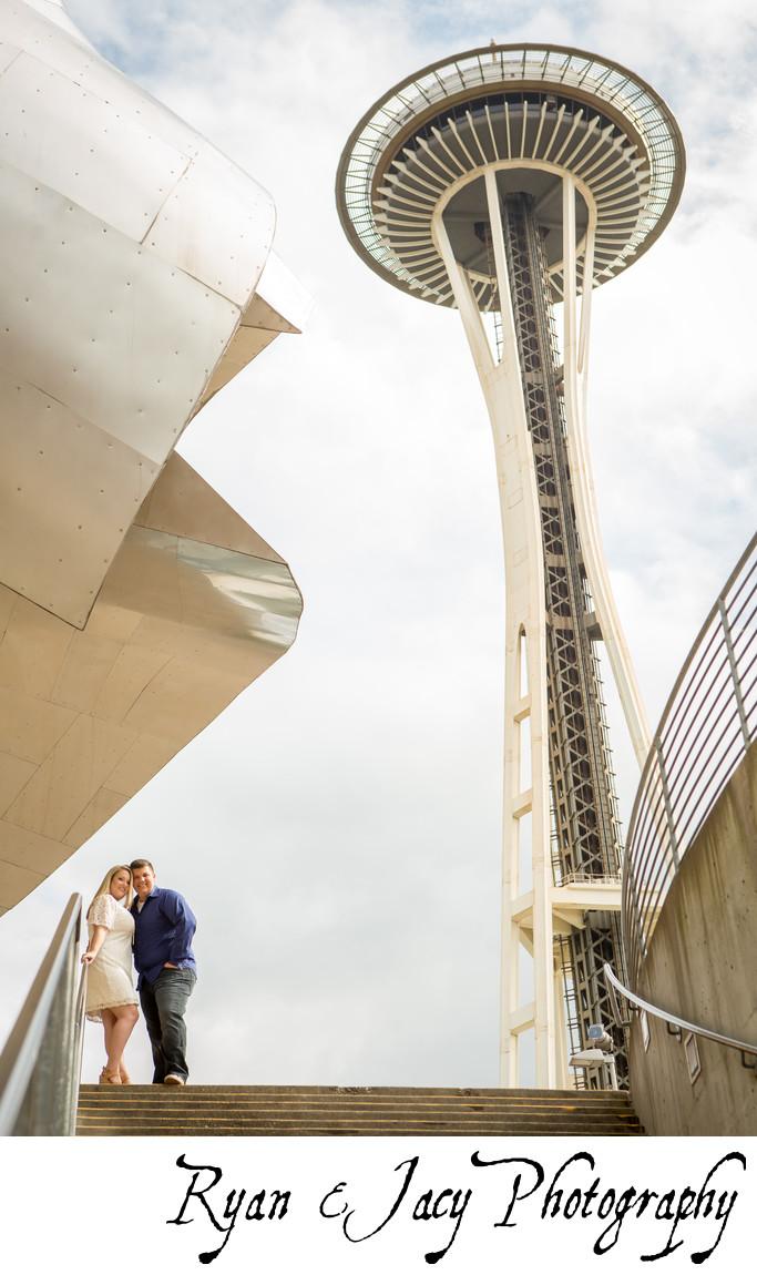 Seattle Center Engagement Photographers