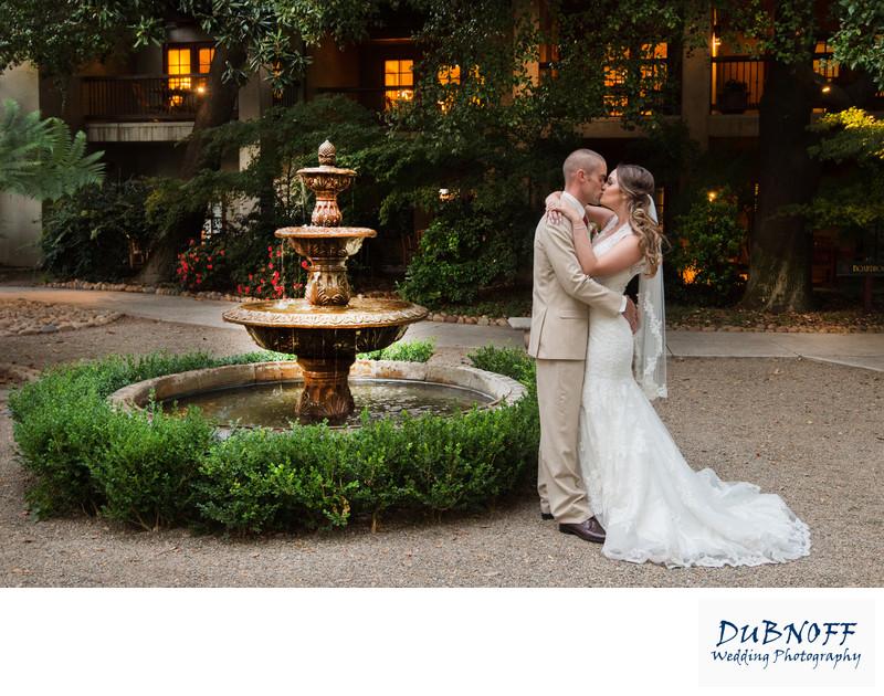 bay area wedding fountain