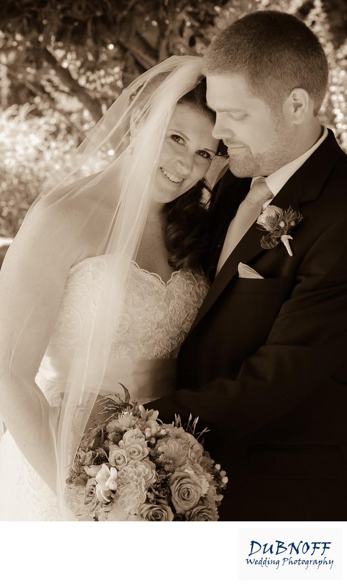 sepia bride groom