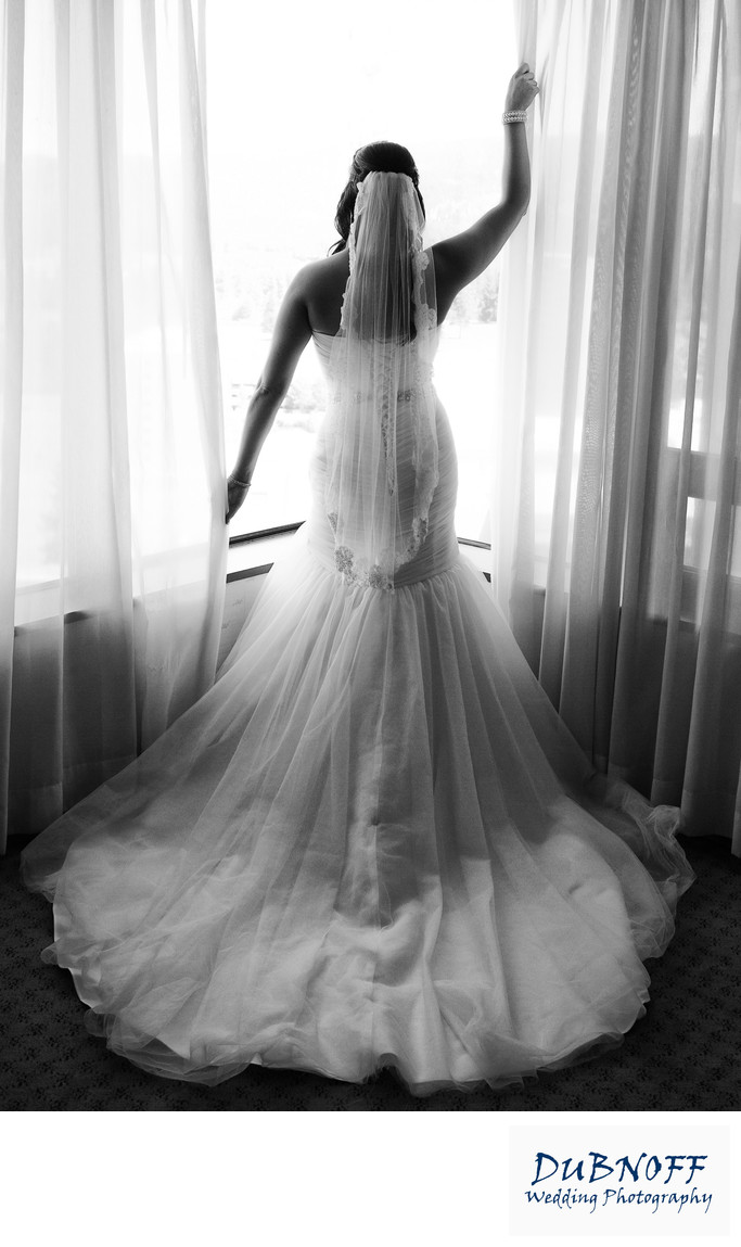 back of stunning wedding dress in San Francisco