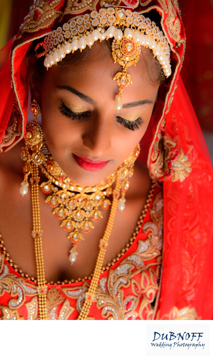 dramatic indian bride