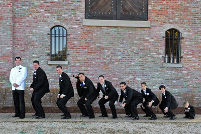 groomsmen evolution photograph