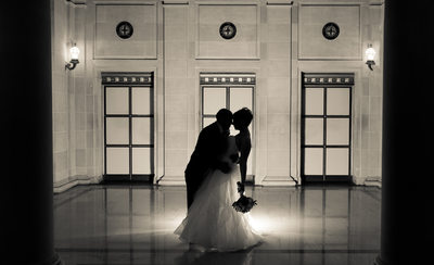 dramatic wedding photography image