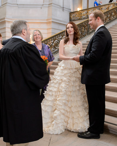 ceremony on staircase