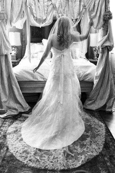 bride in grand room