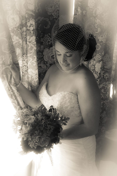 bride drapes