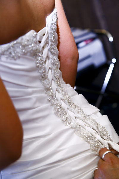 bride back of dress