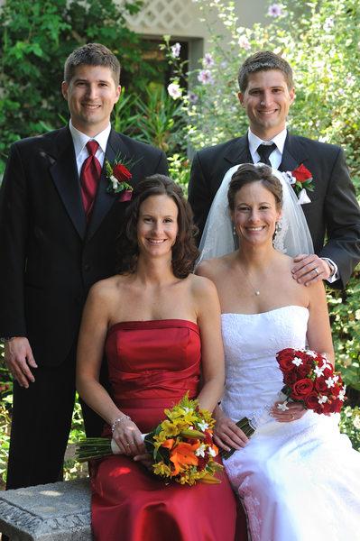 twin brides grooms