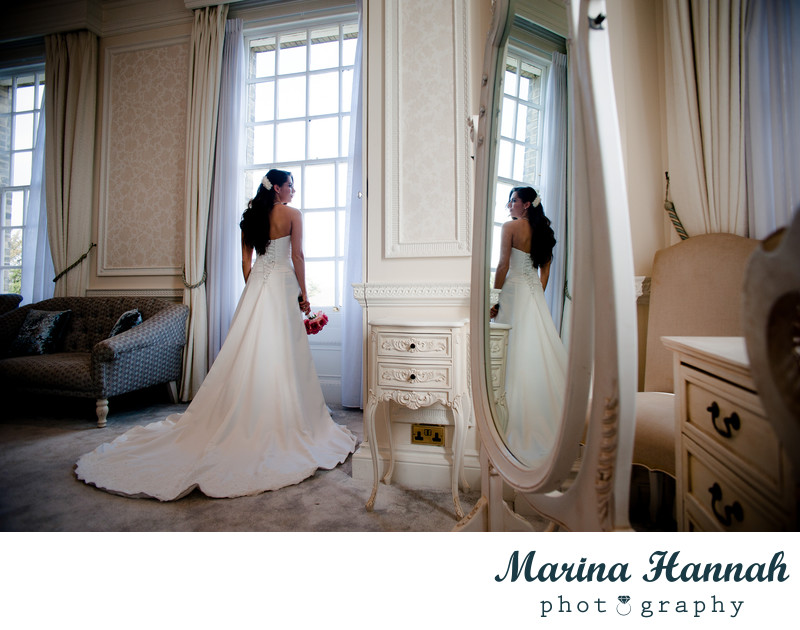 Bride getting ready at Hedsor House