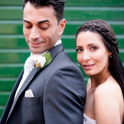 Bride and groom wedding day portraits