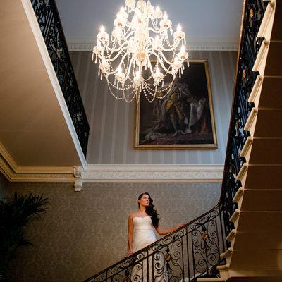 Bridal portrait in a magnificent London wedding venue