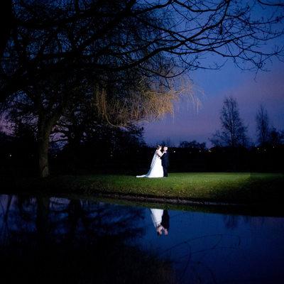 Night wedding photography at Nailcote Hall