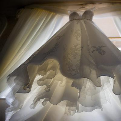 Photo of a beautiful wedding dress