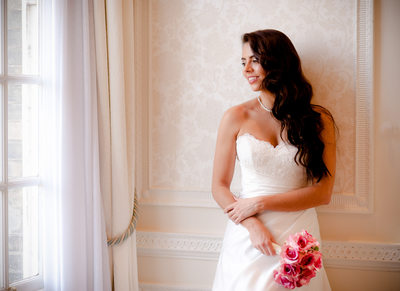 Bridal portrait at Rowton Castle wedding