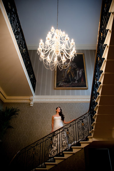 Bridal portrait in a magnificent London wedding venue