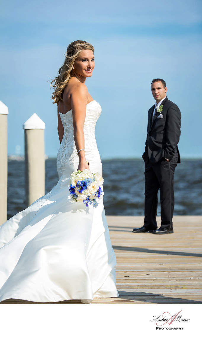 Waters Edge Wedding-Bride and Groom