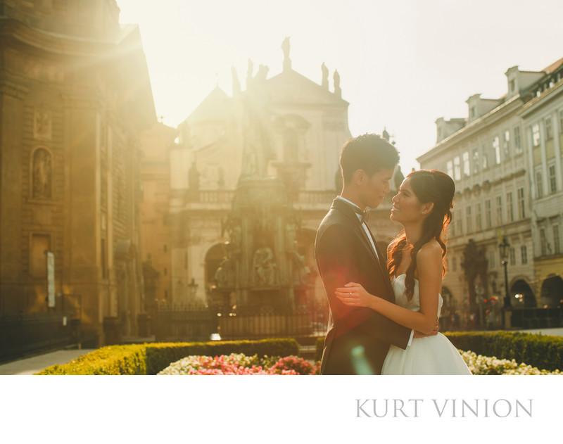 Hong Kong couple H&P pre wedding portraits in Prague