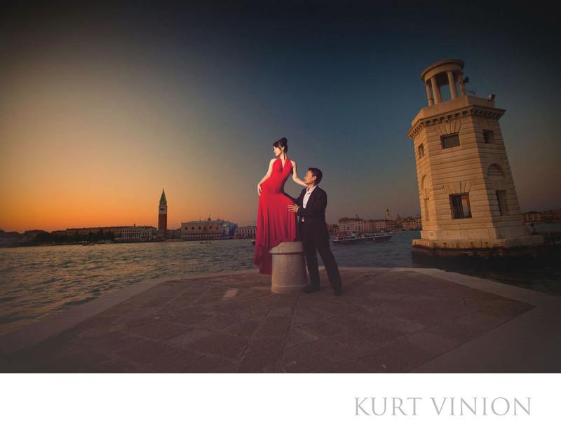 Venice pre wedding photos / M & J
