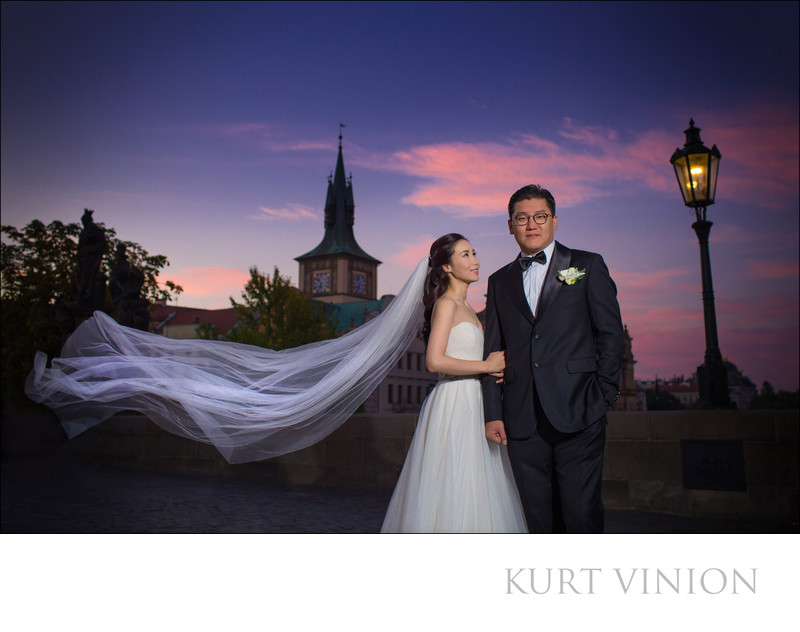 luxury engagement portrait photographer Prague