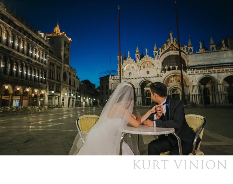 pre wedding photo Venice D&L (HK) at St Mark's Basilica