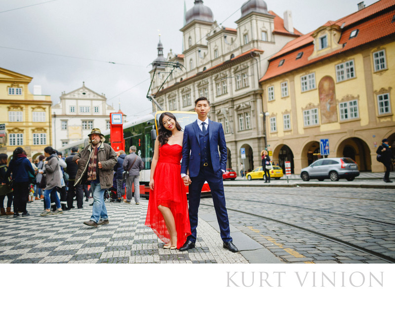 a surprise marriage proposal in Prague